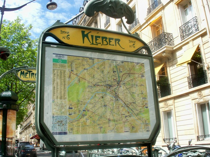 The Paris metro map at the Kleber station. I am mad about the Art Nouveau